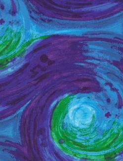 Timeless Treasures Brite Fantasy Brite Phantasie Blue blau grün violett Rückseitenstoff überbreit