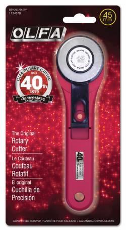 Olfa Rollschneider Splash 45 mm Ruby 40 Jahre Olfa, Limited Edition