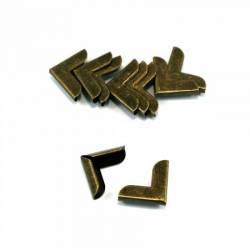 REDUZIERT: Emmaline Taschen-Ecken für Taschen und Börsen 3/4 inch Antique Brass