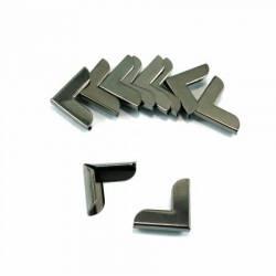Emmaline Taschen-Ecken für Taschen und Börsen 3/4 inch Gunmetal