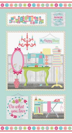Benartex My Happy Place Panel - Rapport ca. 59 cm -
