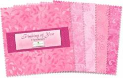 Wilmington Essential Pinking of You 5 inch Squares 42 stk.
