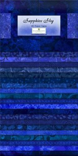 Wilmington Essential Gems Sapphire Sky Jelly Roll 2x20 Streifen