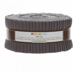 Kona Cotton Roll Up 2-1/2in Strips Roll Up Kona Solids Coal