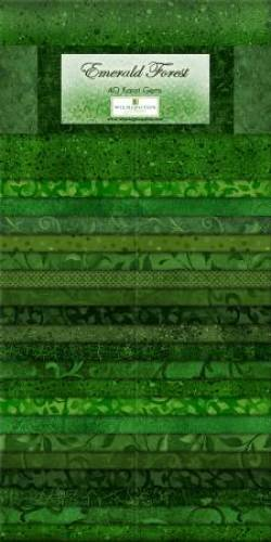 Wilmington Essential Gems Emerald Forest Jelly Roll 2x20 Streifen