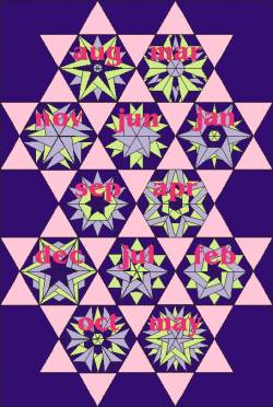PDF Anleitung Block of the Month 2011 Krystal Stars