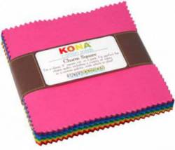 Kona Solids Classic Palette 5 inch Squares 41 stk.