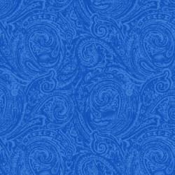 Henry Glass Blue Two Tone Paisley königsblau