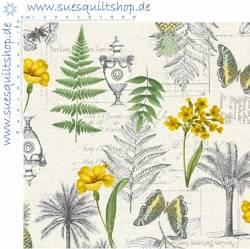 Makower Fern Garden Farnblätter, Schmetterlinge, Schrift