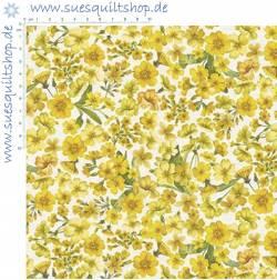 Makower Fern Garden Blumen gelb