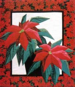 Anleitung Poinsettia mit Freezer Paper