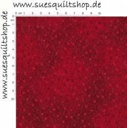 Robert Kaufman Fusions Crimson Small Floral Vine, Ranken karmesinrot