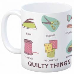 Quilt Happy - Quilty Things Mug Kaffeebecher