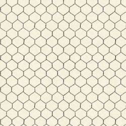 Windham Cream Chicken Wire Maschendrahtzaun creme