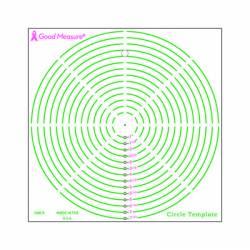 Good Measure Circle Template Ruler