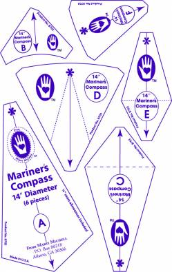 Perfect Patchwork Templates Mariners Compass 14 inch