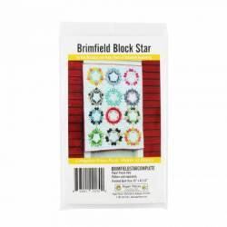 Papierschablonen Brimfield STAR Block Komplettset für 12 Blöcke