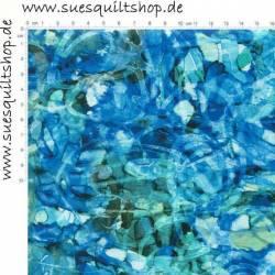 P&B Glacier Rain Kritzel blau-grün