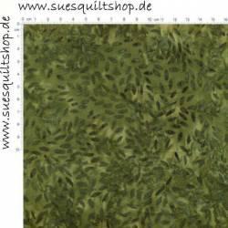 Fabric Arts Batik kleine Blätter grün auf grün