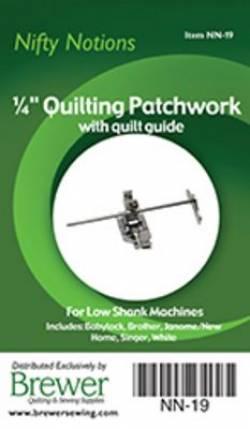 Patchworkfuss 1/4 inch für Patchwork, mit Kantenlineal