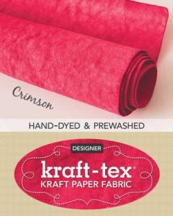 Kraft-Tex Crimson Hand-Dyed & Prewashed