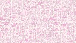 Makower Alison Glass SunPrints Collection Cupcake pink auf weiss >>> Mindestbestellmenge 1 Meter <<<