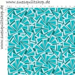 Benartex Fandangle Teal Triangle Trinkets petrol türkis