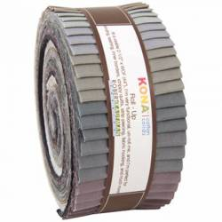 Kona Cotton Roll Up 2-1/2in Strips Roll Up Kona Solids Gray Area