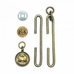 Slide Clasp 4 inch mit Magnetverschluss antik gold