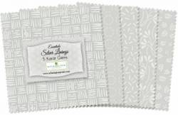 Wilmington Essential Gems Silver Lining 5 inch Squares 42 stk.