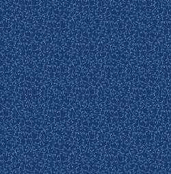 Stof Woodland Forest Ranken hellblau auf blau