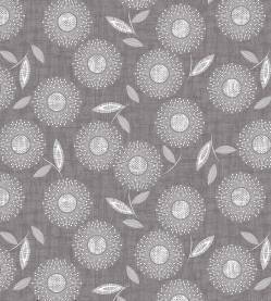 Stof Modern Mixers Blumen grau