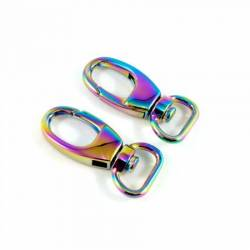 Emmaline Swivel Snap Hooks for 1/2in Straps Rainbow, 2 stk/pkg