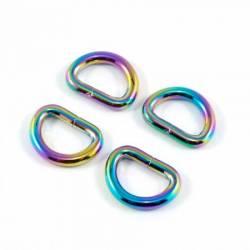 Emmaline D-rings for 1/2in Straps Rainbow 4 stk/pkg