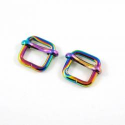 Emmaline Strap Sliders for 1/2in Straps Rainbow 2 stk/pkg