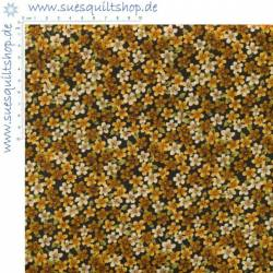 Benartex A Cat for all Seasons Gold toned florals