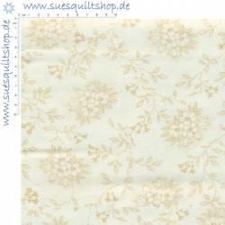 Penny Rose Fabric Blumen beige auf hellbeige