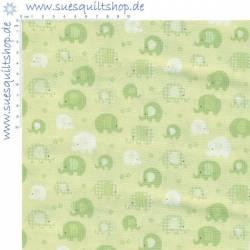 Benartex Contempo Bobo Baby Elefanten grün
