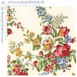 Penny Rose Fabric Rose Bouquet beige