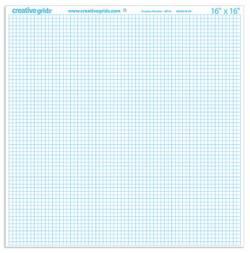Creative Grids Graph Paper, Design Papier 16x16 inch, in 1/4 INCH Raster, blaue Linien