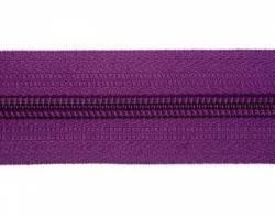 Endlosreißverschluß 5 mm Schiene Fb. 067 dunkelviolett - OHNE Zipper!!!