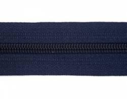 Endlosreißverschluß 5 mm Schiene Fb. 073 dunkelblau - OHNE Zipper!!!