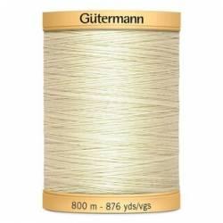 Gütermann Nähgarn 100% Baumwolle, 800 m, Fb. 919 ivory wollweiss