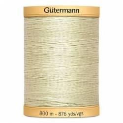 Gütermann Nähgarn 100% Baumwolle, 800 m, Fb. 9829 creme