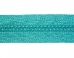 Endlosreißverschluß 5 mm Schiene Fb. 077 aquamarin - OHNE Zipper!!!