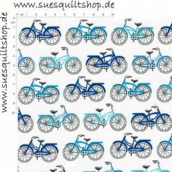 Robert Kaufman Everyday Favorites Blue Bikes Fahrräder blau