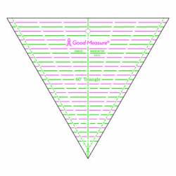 Good Measure 60 degree Triangle Ruler, 60 Grad Dreieck-Lineal, 8 inch
