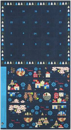 Stof Adventskalender Enchanted Forest Panel, Rapport ca. 58 cm