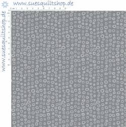 Stof Dot Mania grey Punkte hellgrau auf dunkelgrau