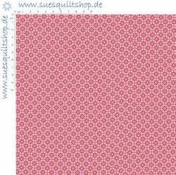 Stof Quilters Basic Memories Tile Red rot auf rosa